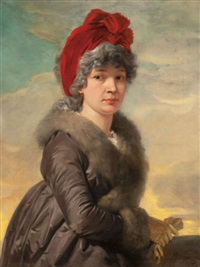 portrait of a woman by josef abel