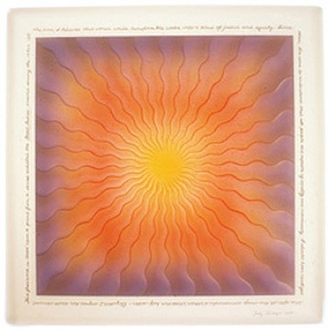 fused mary queen of scots in glass by judy chicago