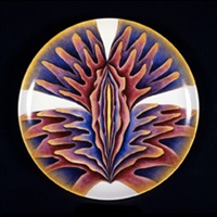 untitled test plate #6 by judy chicago