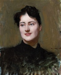 portrait of a woman by dennis miller bunker