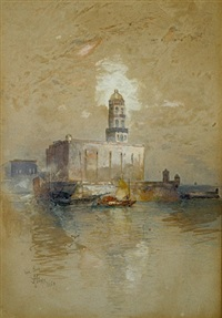 castle of san juan d'ulloa, vera cruz by thomas moran