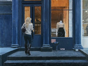 blue storefront (sold) by vincent giarrano