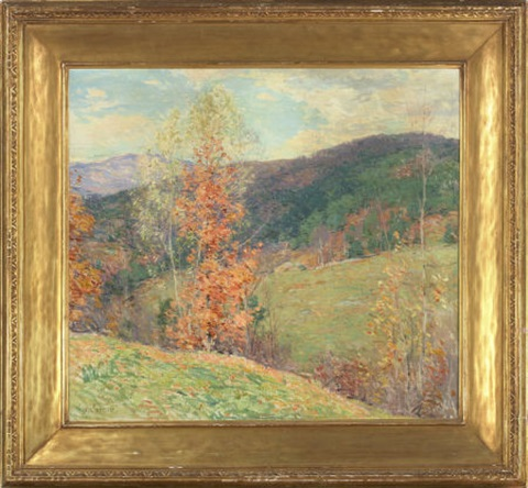 october afternoon vermont by willard leroy metcalf