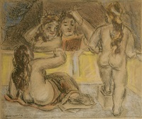 four nude women by max weber