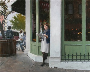 waiting for a friend (sold) by vincent giarrano