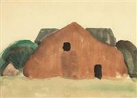 brown barn by arthur dove