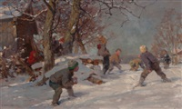 the snowball fight by fritz freund
