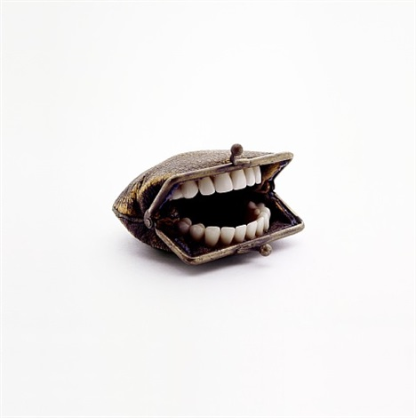 purse with teeth by nancy fouts