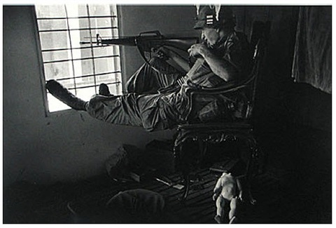g.i. during urban fighting, saigon, 1968 by philip jones griffiths