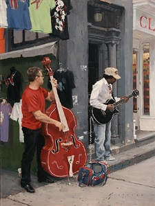 street musicians (sold) by vincent giarrano