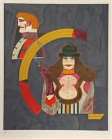 """portrait no. 2 from the """"after noon"""" portfolio by richard lindner"""