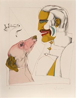 "man's best friend from the ""after noon"" portfolio by richard lindner"