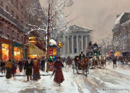 rue royale et la madeleine by edouard léon cortès