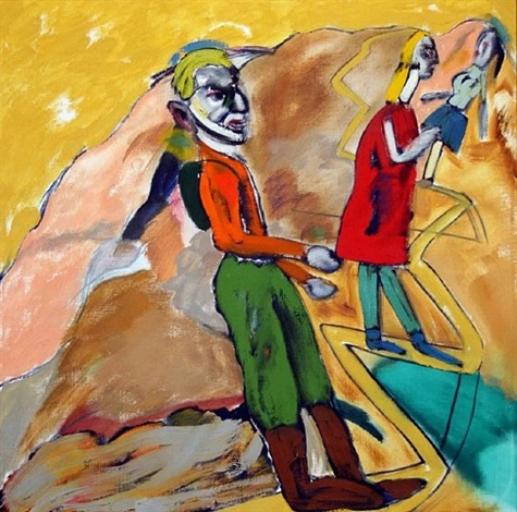 the mountain footpath by ronald brooks kitaj