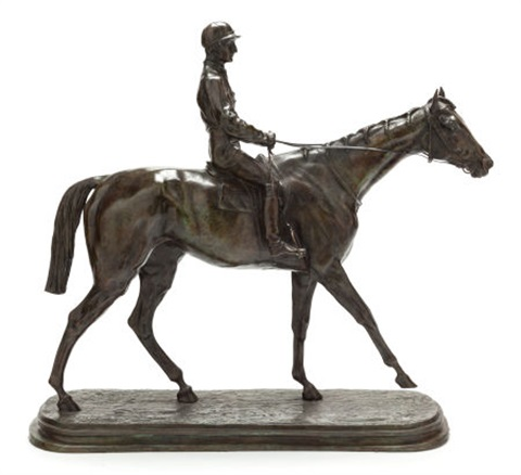 jockey on horseback by pierre jules mène