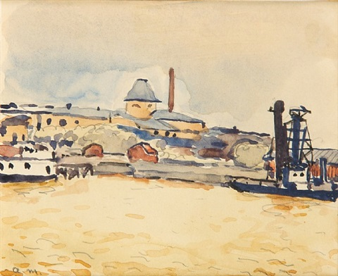 port du danube by albert marquet