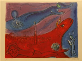 the bastille by marc chagall