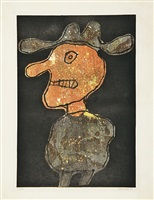 personnage au chapeau (person mit hut) by jean dubuffet