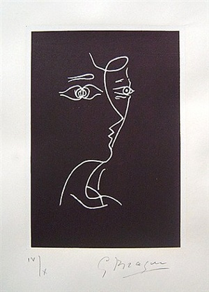 profil, tir a l'arc by georges braque