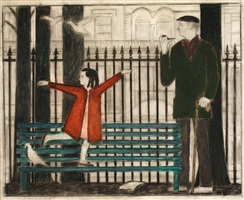 study for gramercy park by will barnet