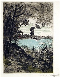 la fumee du bateau by jean françois raffaëlli