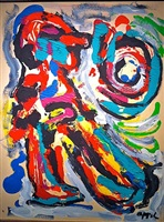 personage la lune by karel appel