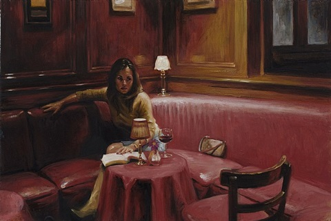 reading in the red room ii by delia brown