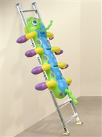 <!--63-->caterpillar ladder (wall) by jeff koons