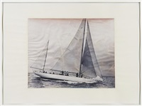 boat drawing (detail) by paul sietsema