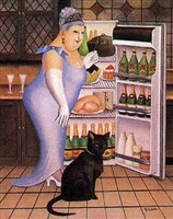 percy at fridge by beryl cook