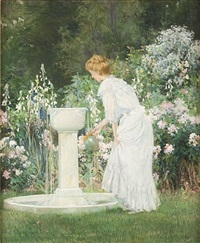 at the garden fountain by francis coates jones