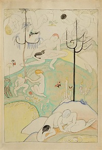 figures in a landscape by marguerite thompson zorach