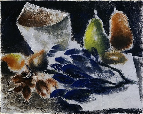 nature morte aux poires by jean fautrier