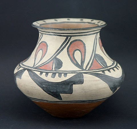 rare polychrome jar by maria martinez