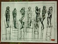 supplicants (sketch) by paco rodríguez ortega