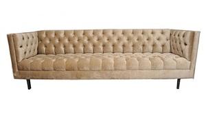 milo baughman tuxedo sofa, circa 1960's by milo baughman