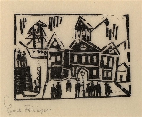 zollhaus (custom-house) by lyonel feininger