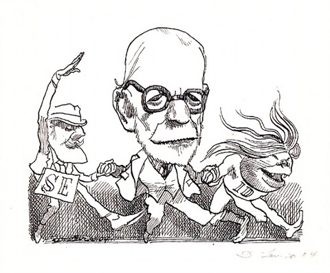freud by david levine