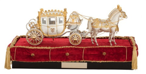 coach with two horses by fisher body division of general motors corporation