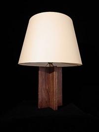 lampe cruciforme en chêne teinté by jean-michel frank