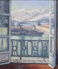 view from the terrace by henri charles manguin