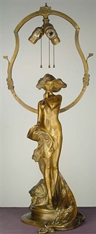 art nouveau lamp by charles (karl) korschann