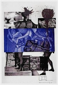 from the collection of leslie sacks - rarely seen works from the gallery archive by robert rauschenberg