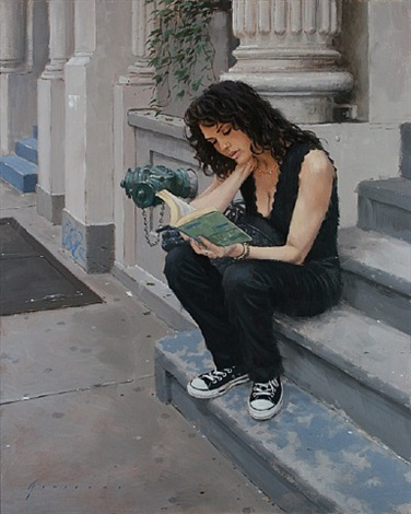 julia reading by vincent giarrano
