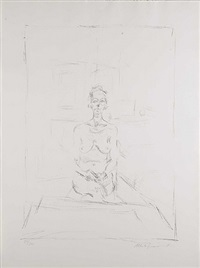 seated nude by alberto giacometti