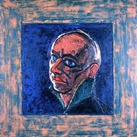 head (green collar) by peter heinemann