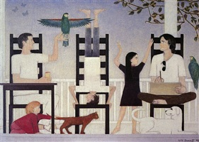 three chairs ii by will barnet