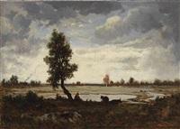 effet de ciel sur la plaine by théodore rousseau
