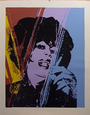 drag queen by andy warhol
