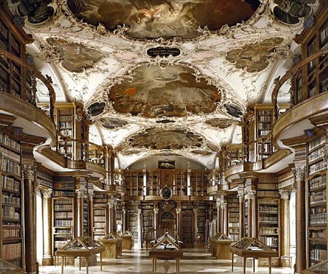 library of st. gallen, switzerland by massimo listri